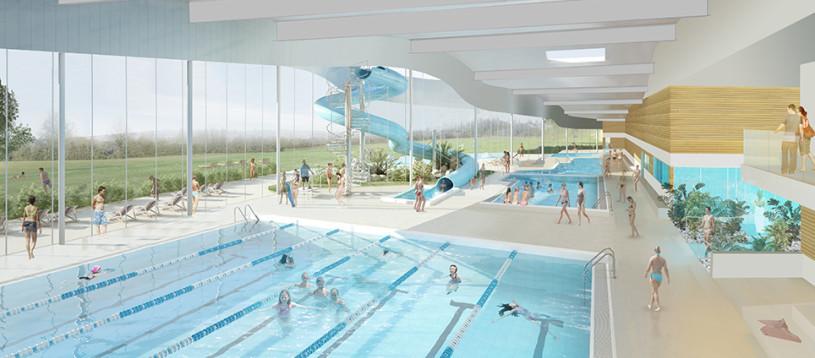 Centre aquatique - vue intérieure