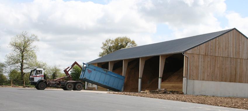Plateforme de compostage - filière bois déchiqueté