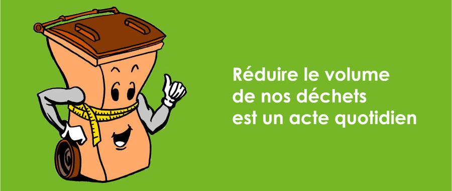 réduire nos déchets - illustration poubelle