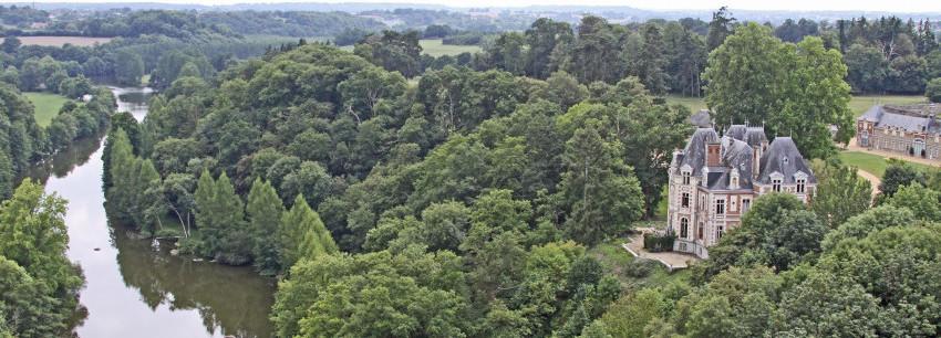 le territoire mayenne communauté vue aérienne