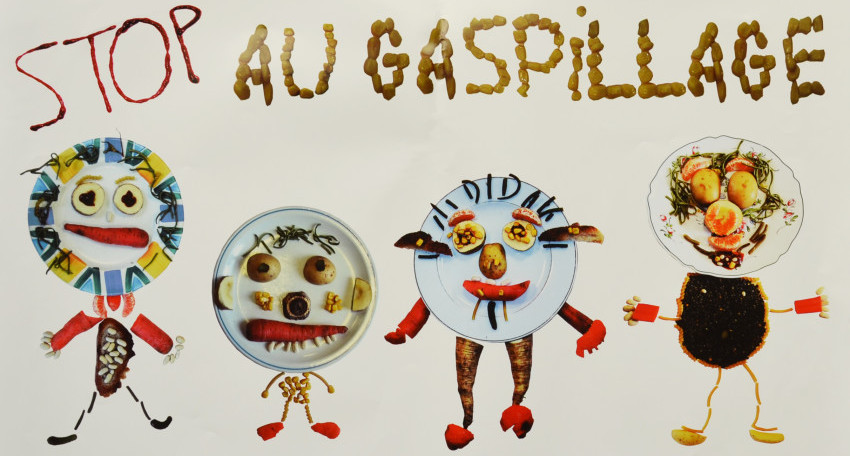 affiche anti gaspillage alimentaire